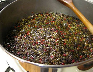 Softening peppercorns for Peppercorn Encrusted Chuck Roast
